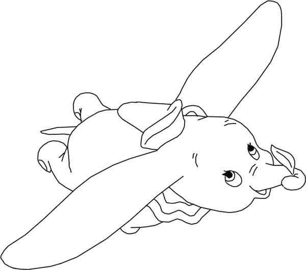 The Flying Dumbo The Elephant Coloring Pages : Bulk Color
