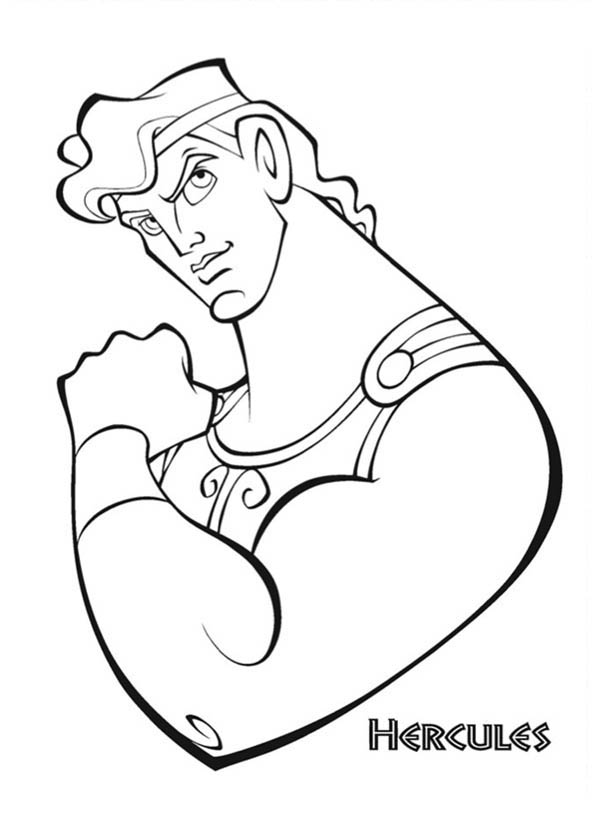 Hercules, : The Strong Hercules Coloring Pages