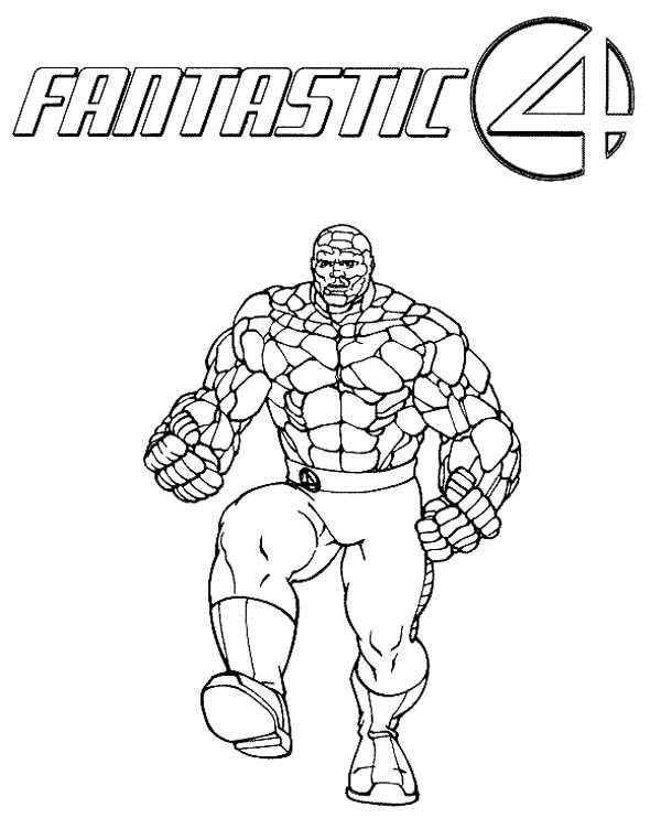 Fantastic Four, : The Strong Thing from Fantastic Four Coloring Pages