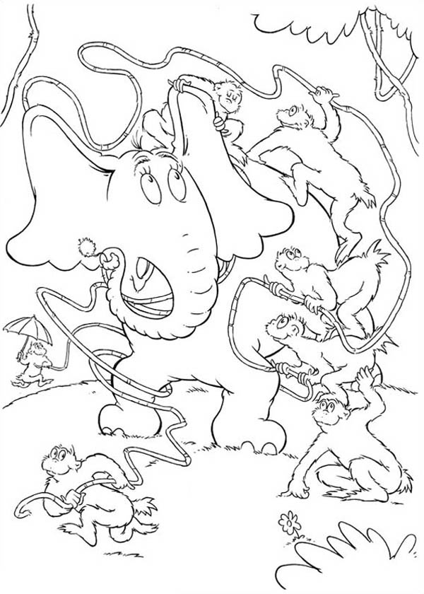 Horton, : The Wickershams Disturbing Horton in Horton Hears a Who Coloring Pages