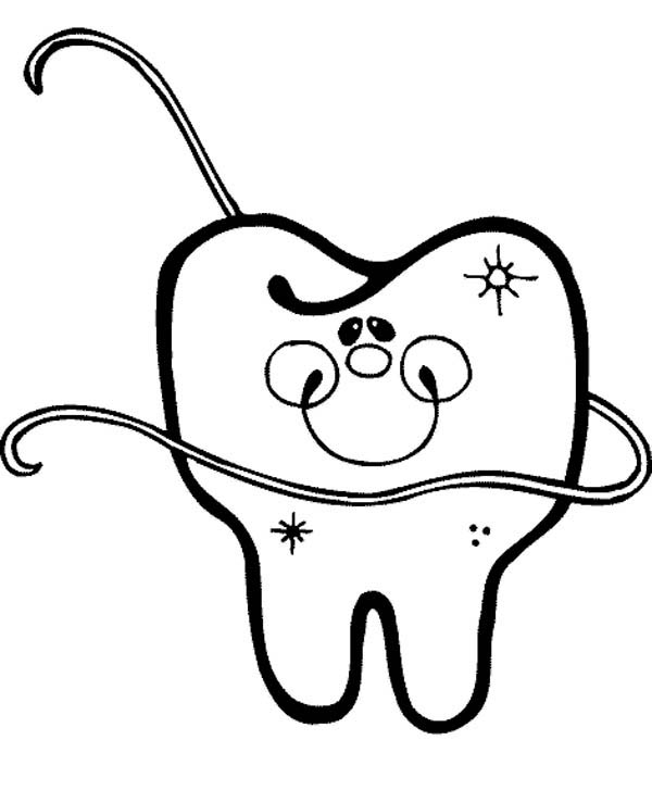Dentist, : Tooth Dentist Coloring Pages