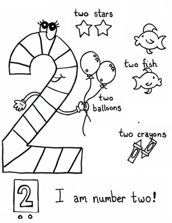 Number 2, : All Things About Number 2 Coloring Page