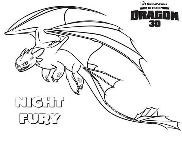How to Train Your Dragon, : Amazing Night Fury How to Train Your Dragon Coloring Pages