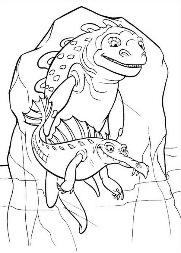 Ice Age, : Ancient Animal Trapped in Ice Age Coloring Pages