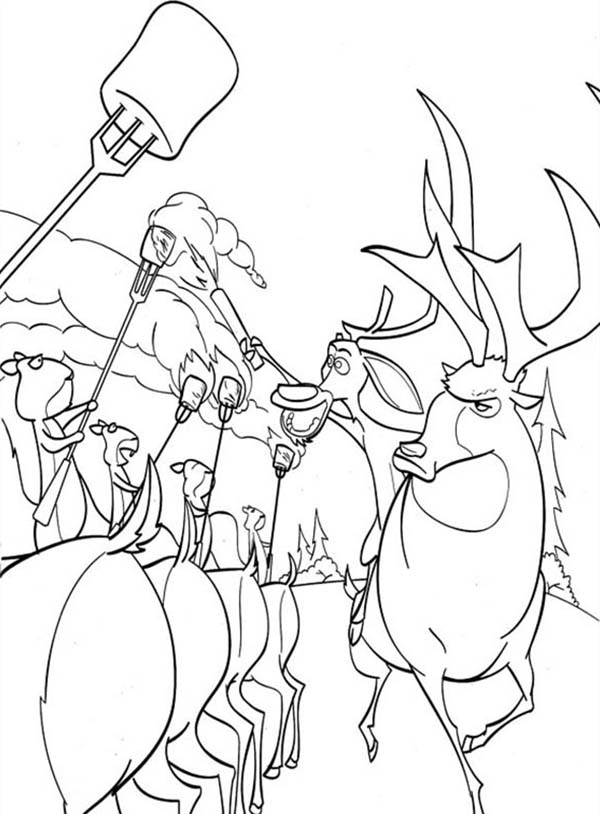 Oliver and Company, : Animal United in Open Season Coloring Pages