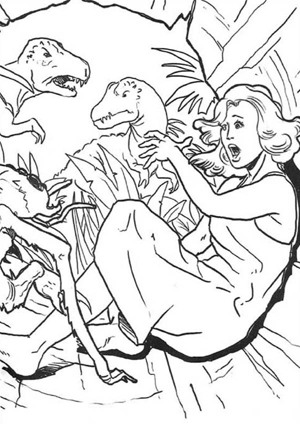 King Kong, : Ann Darrow Screaming in King Kong Coloring Pages