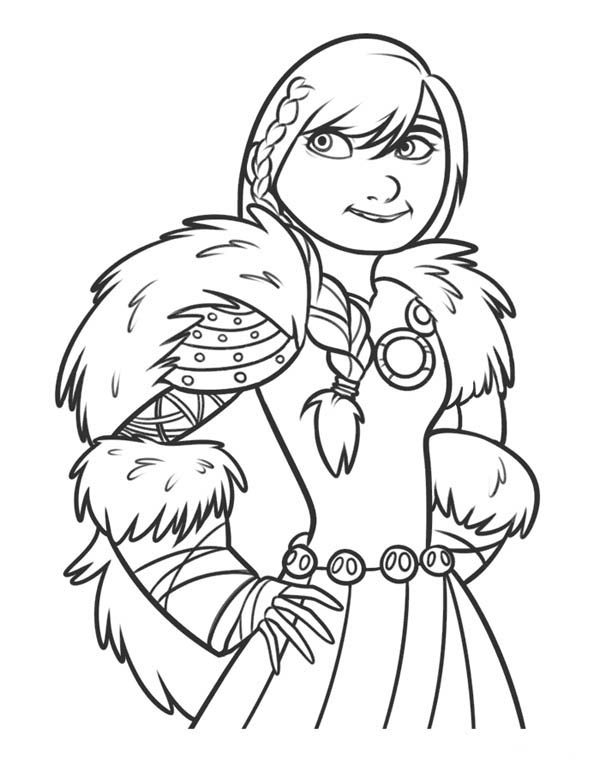How to Train Your Dragon, : Astrid is so Beautiful in How to Train Your Dragon Coloring Pages