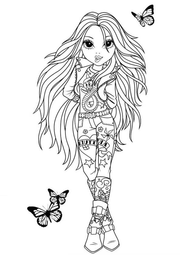 Moxie Girlz, : Avery Going on a Date in Moxie Girlz Coloring Pages