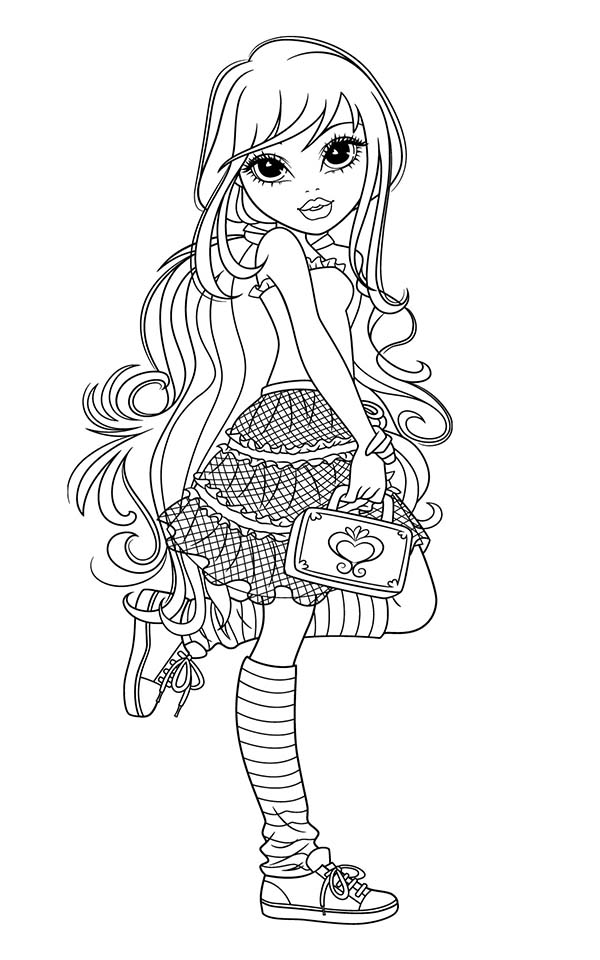 Moxie Girlz, : Avery New Hand Bag in Moxie Girlz Coloring Pages