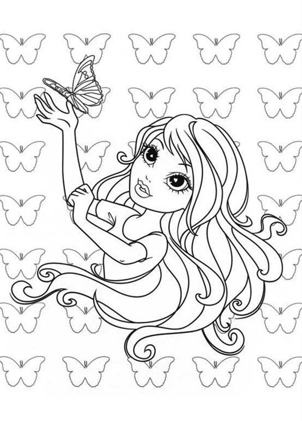 Moxie Girlz, : Avery and Butterfly Moxie Girlz Coloring Pages