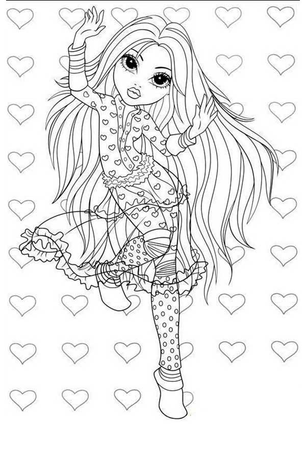 Moxie Girlz, : Avery is in Love in Moxie Girlz Coloring Pages