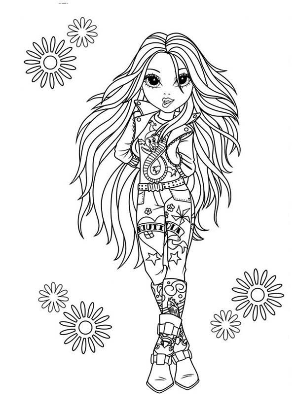 Moxie Girlz, : Avery the Rock Star in Moxie Girlz Coloring Pages