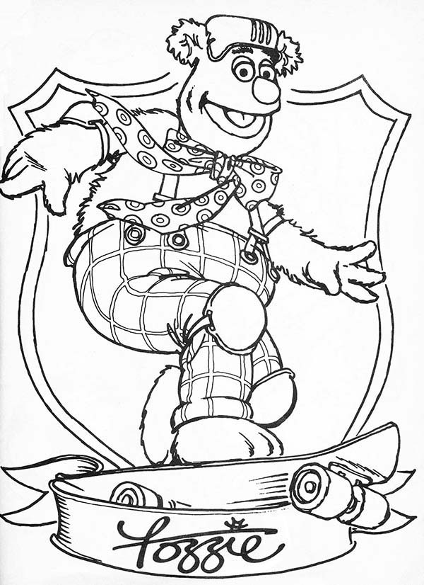Awesome Fozzie Bear The Muppets Coloring Pages Bulk Color