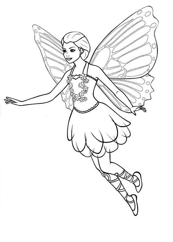 Barbie Mariposa, : Barbie Mariposa Looking for Her Friends Coloring Pages