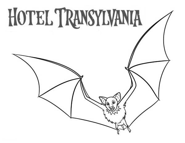 Hotel Transylvania, : Bats from Hotel Transylvania Movie Coloring Pages