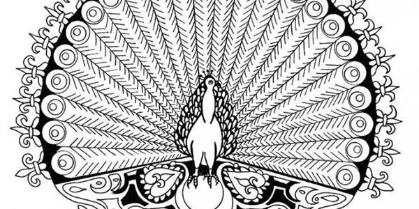 Mandala Animal, : Beautiful Peacock Mandala Animal Coloring Pages