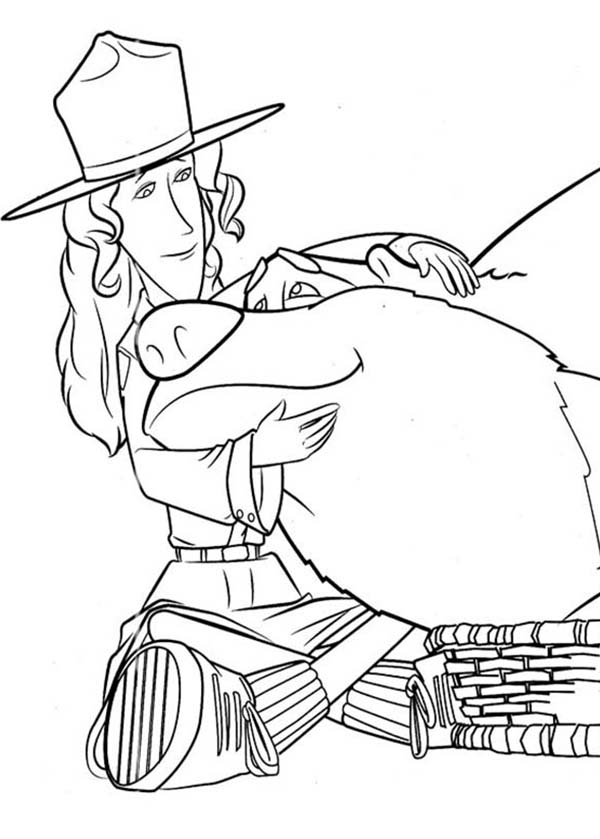 Oliver and Company, : Beth the Ranger Love Boog in in Open Season Coloring Pages