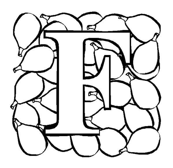 Letter F, : Big Alphabet Letter F Coloring Page
