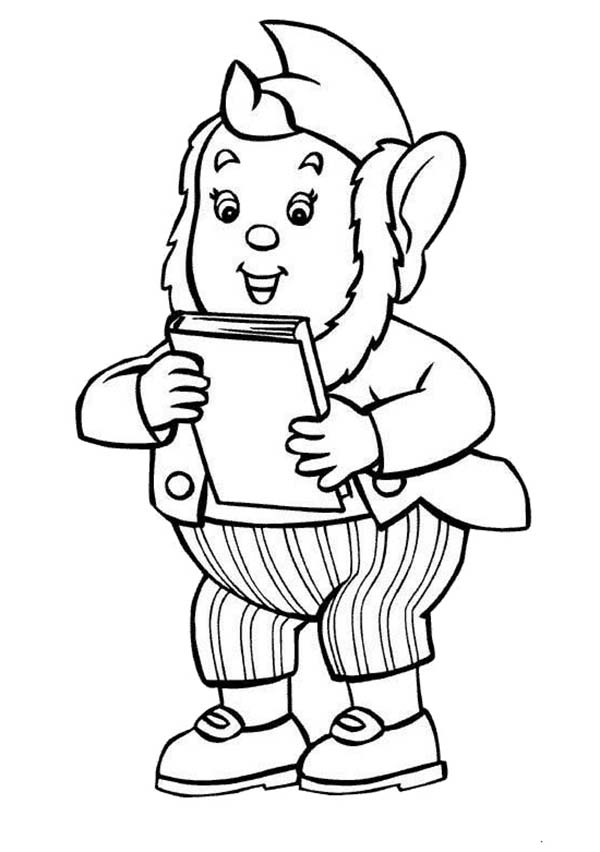 Noddy, : Big Ear Bring Noddy His Favorite Book Coloring Pages