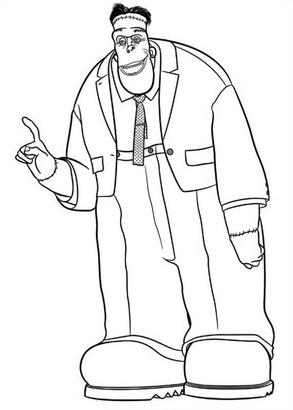 Hotel Transylvania, : Big and Tall Frankenstein Hotel Transylvania Coloring Pages