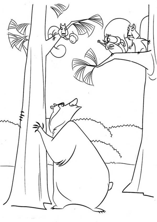 Oliver and Company, : Boog Talking to Another Animal in Open Season Coloring Pages