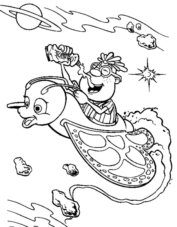 Jimmy Neutron, : Carl in Jimmy Neutron Fantasy World Coloring Pages