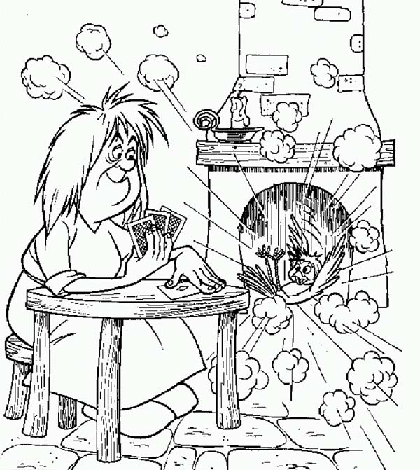 Merlin the Wizard, : Chaos in Merlin the Wizard Kitchen Coloring Pages