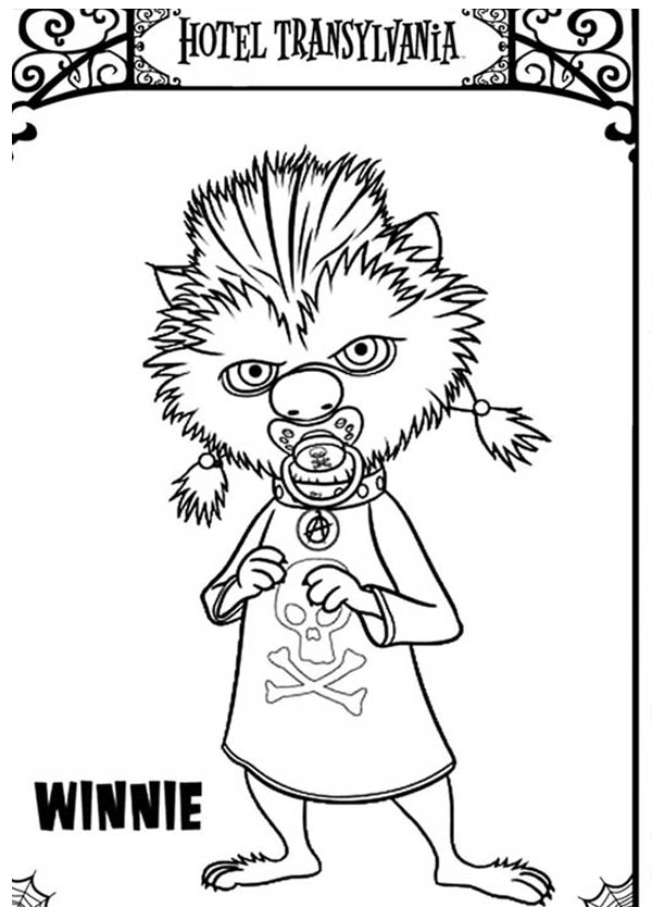 Hotel Transylvania, : Character from Hotel Transylvania Winnie Coloring Pages