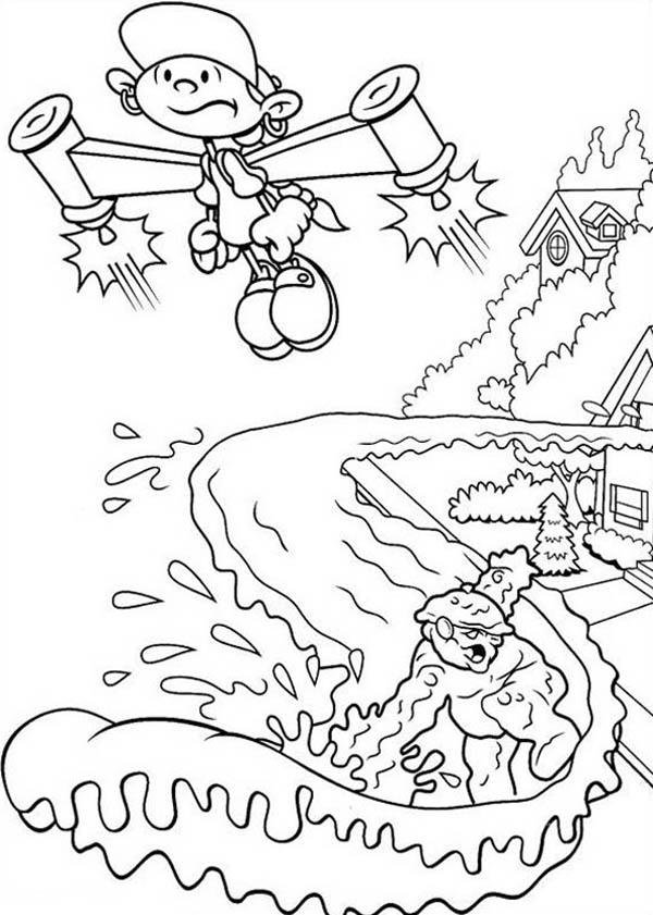 Kids Next Door, : Codename Kids Next Door Coloring Pages Numbuh 5 Escape from the Pursuit of Enemy