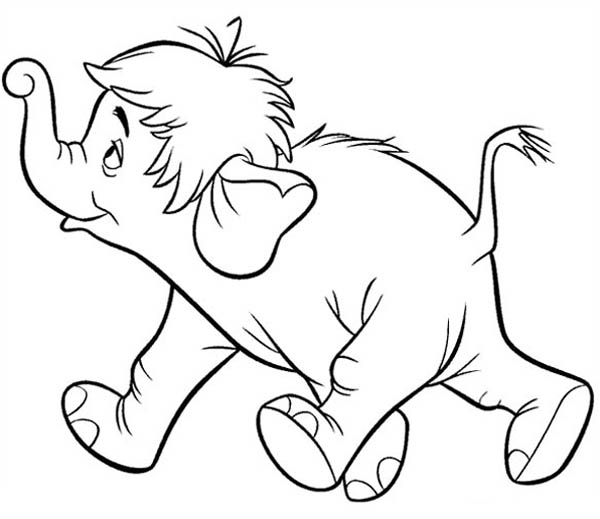 Jungle Book, : Colonel Hathi from Jungle Book Coloring Pages