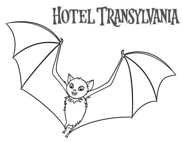 Hotel Transylvania, : Count Dracula Become a Bat in Hotel Transylvania Coloring Pages