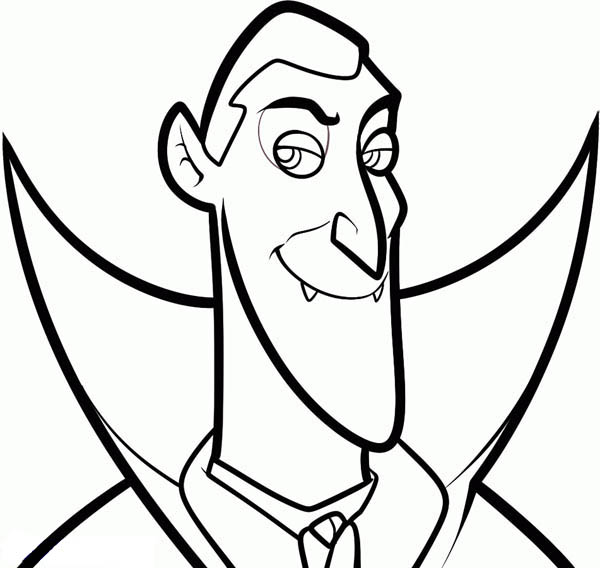 Hotel Transylvania, : Count Dracula from Hotel Transylvania Coloring Pages