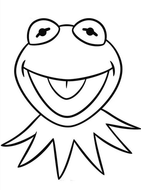 Muppet Babies, : Drawing Head of Kermit the Frog Muppet Babies Coloring Pages