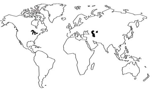 Maps, : Drawing World Maps Coloring Pages