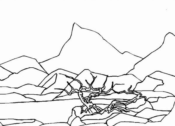 Landscapes, : Dry Land Landscapes Coloring Pages