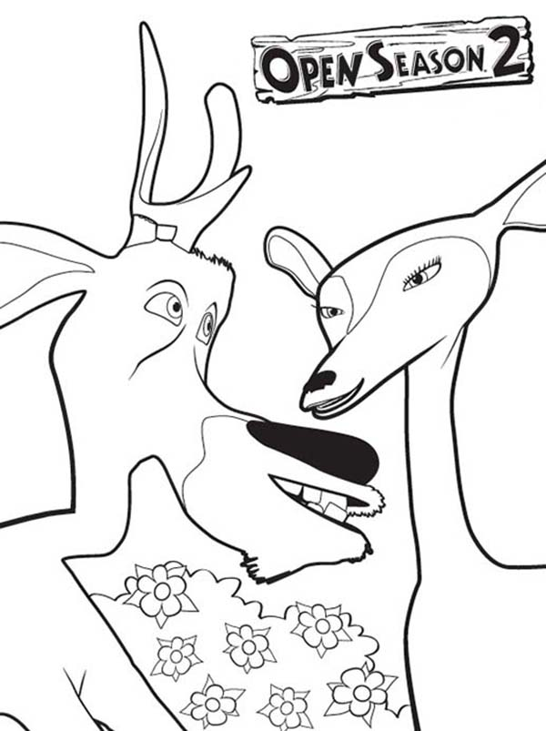 Oliver and Company, : Elliot is Falling in Love in Open Season Coloring Pages