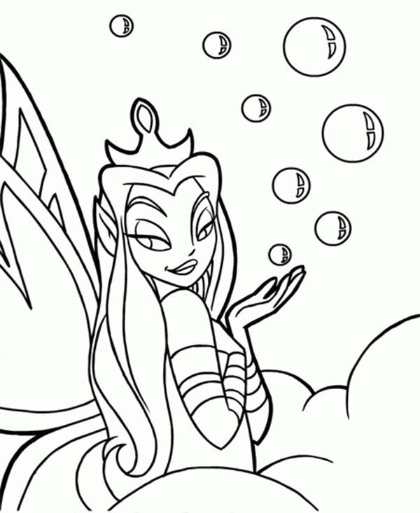 Neopets, : Faerie Queen Neopets Bubble Soap Coloring Pages