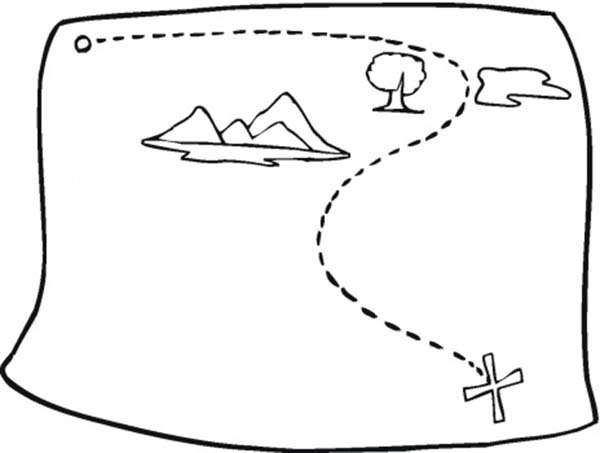 Maps, : Fake Treasure Maps Coloring Pages