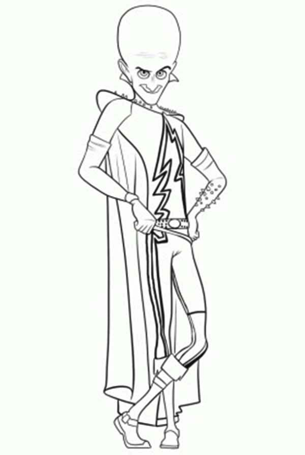 Megamind, : Famous Character Megamind Coloring Pages