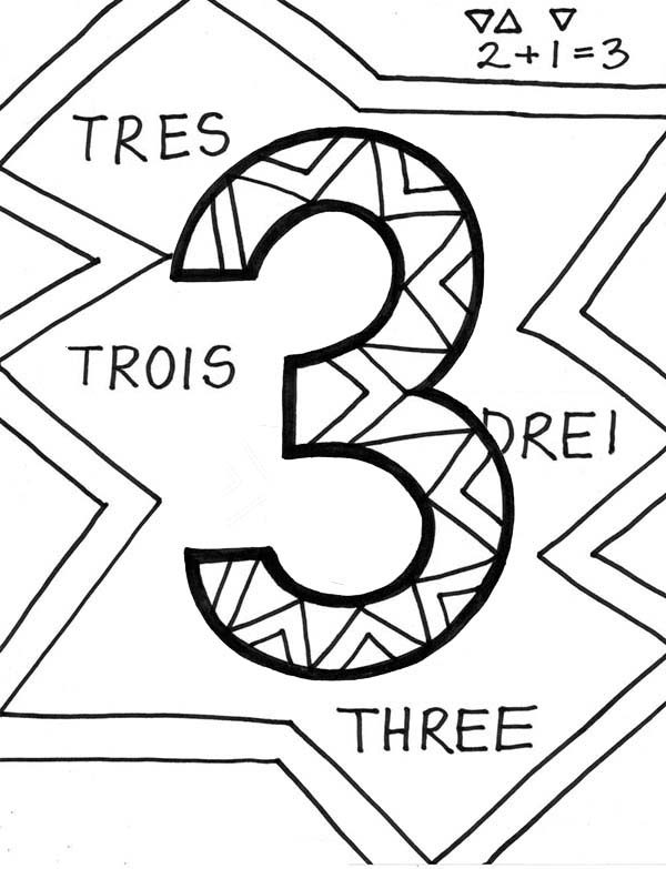 Number 3, : Finding Number 3 Coloring Page