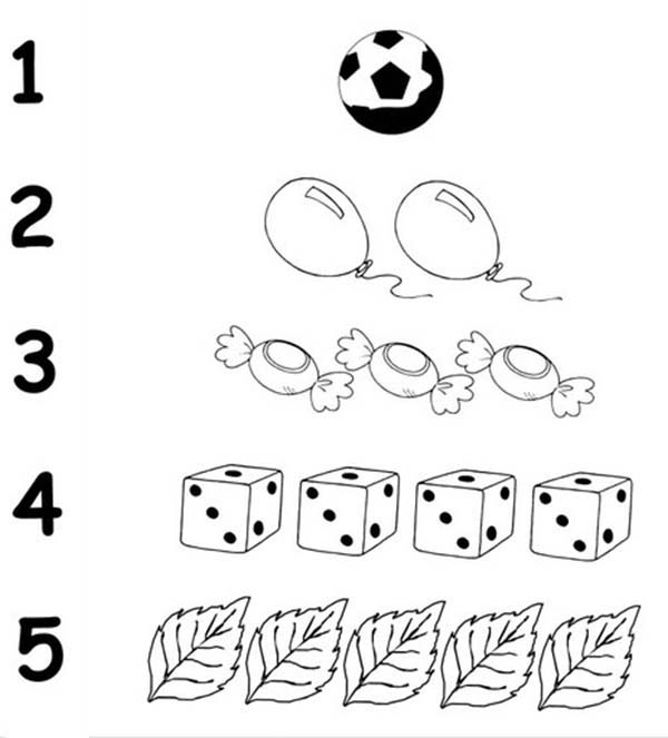 Number 5, : Finding Number 5 Coloring Page