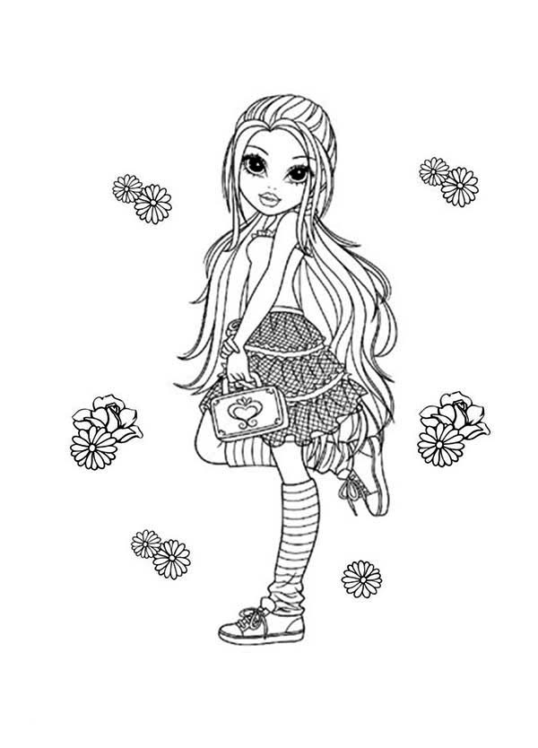 Moxie Girlz, : Flower and Lexa in Moxie Girlz Coloring Pages