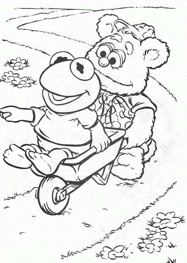 Muppet Babies, : Get On Pushcart Muppet Babies Coloring Pages