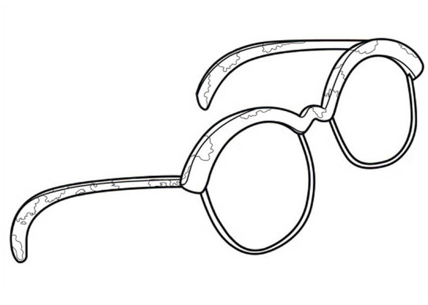 Hotel Transylvania, : Griffin Glassess from Hotel Transylvania Coloring Pages