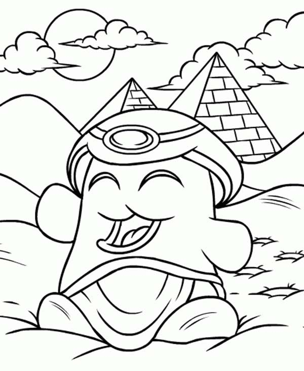 Neopets, : Happy Egyptian Neopets Coloring Pages