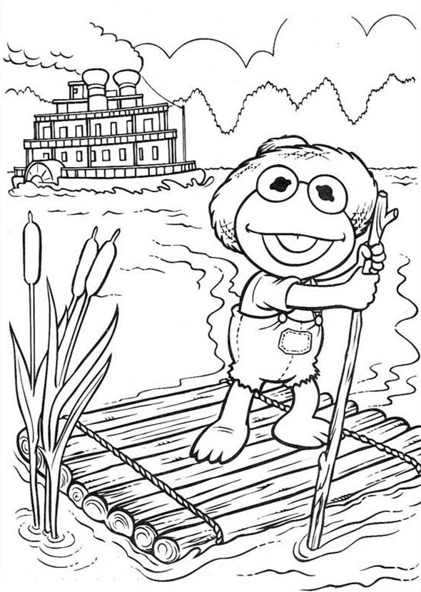 Muppet Babies, : Happy Fisherman Muppet Babies Coloring Pages