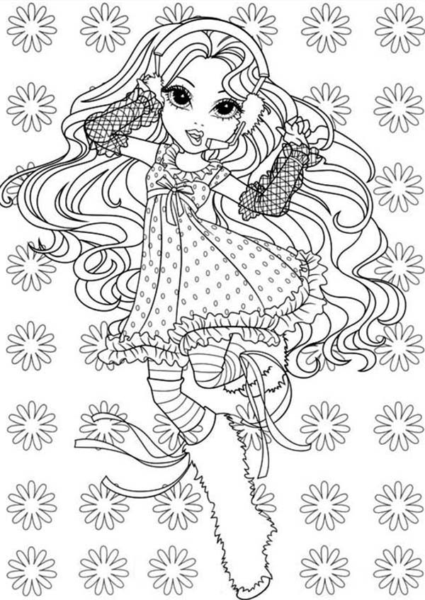 Moxie Girlz, : Happy Girl Bria in Moxie Girlz Coloring Pages