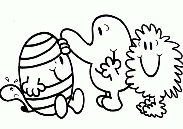 Mr Men and Little Miss, : Helping Mr Bump in Mr Men and Little Miss Coloring Pages