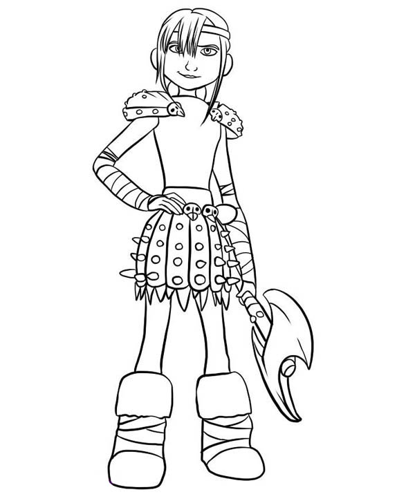 How to Train Your Dragon, : Hiccup Girlfriend Astrid How to Train Your Dragon Coloring Pages