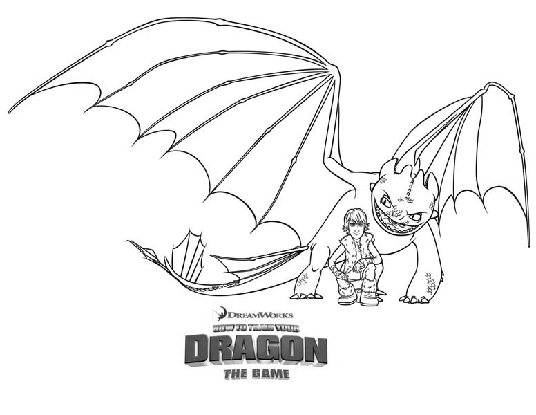 How to Train Your Dragon, : Hiccup and Night Fury from How to Train Your Dragon Coloring Pages